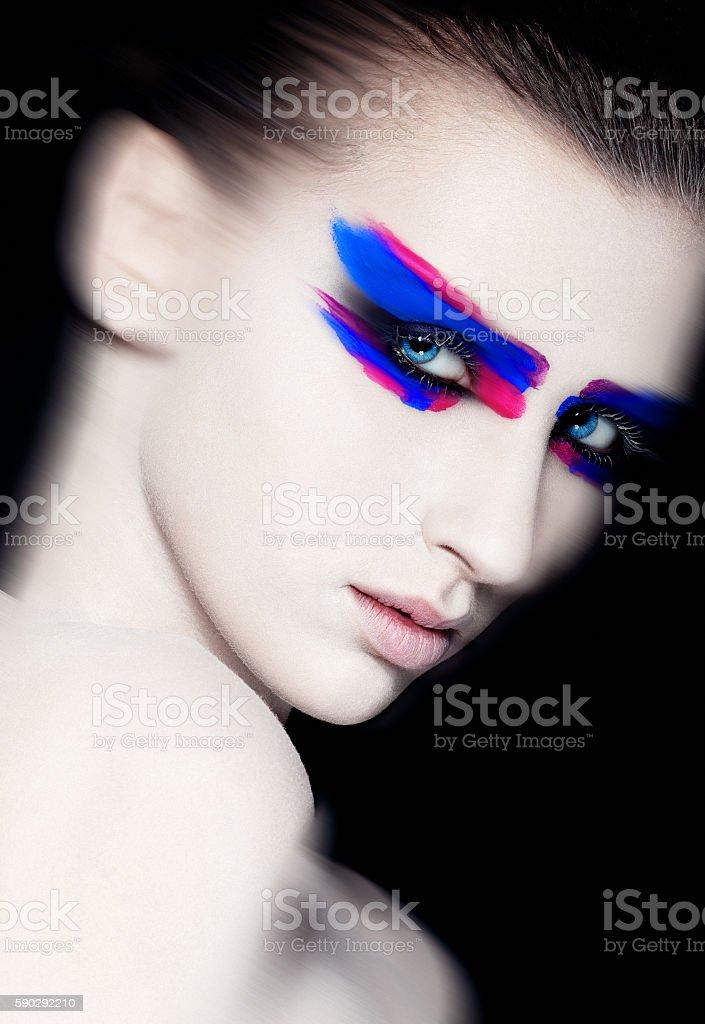 Beauty creative art makeup on black background royaltyfri bildbanksbilder