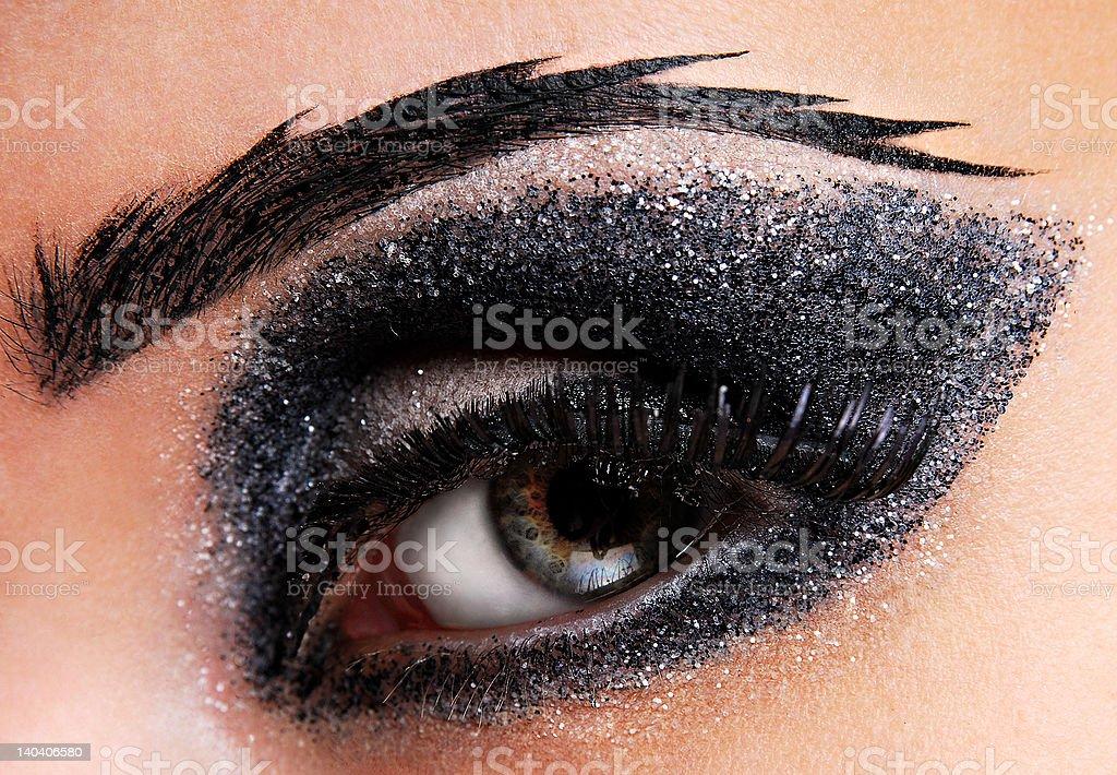 Beauty creativity make-up royalty-free stock photo
