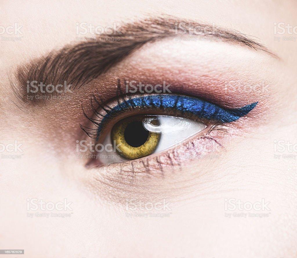 Beauty eye close up eyeliner stock photo