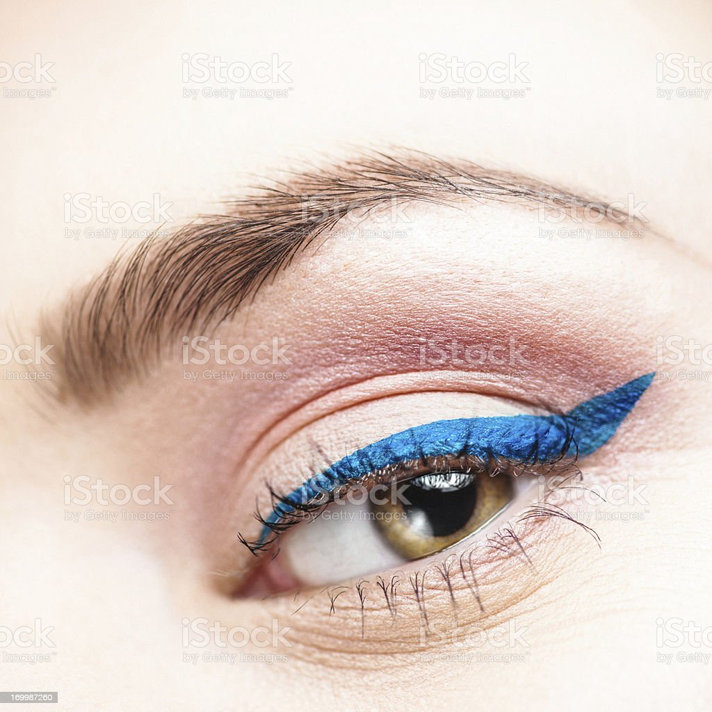 Beauty eye close up eyeliner stock photo