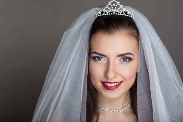 beauty face fashion make up - veil stock pictures, royalty-free photos & images
