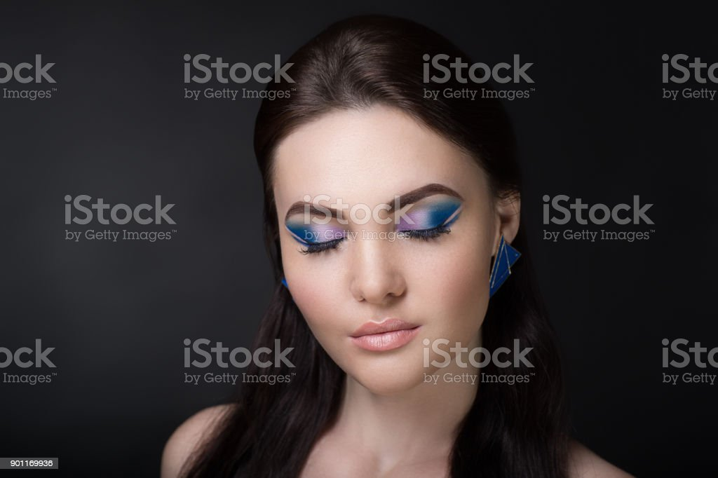 beauty face fashion make up stock photo
