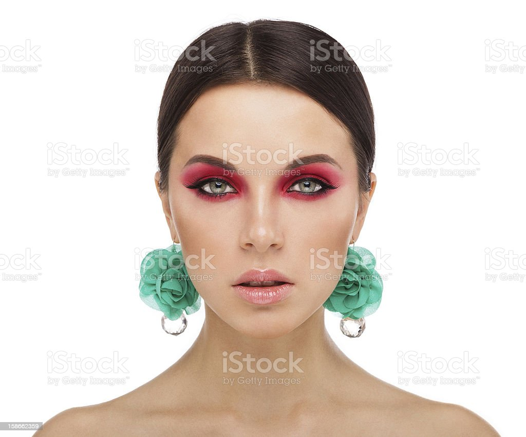 beauty face stock photo