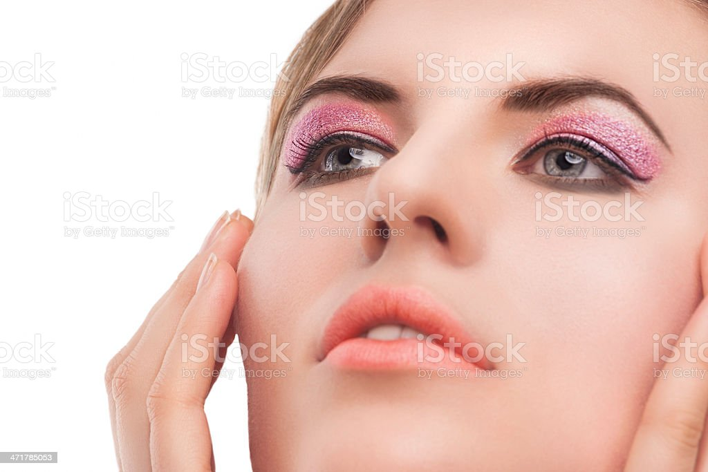 beauty face, pixel retouching royalty-free stock photo