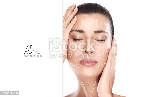istock Beauty Face Spa Woman. Surgery and Anti Aging Concept 526566794