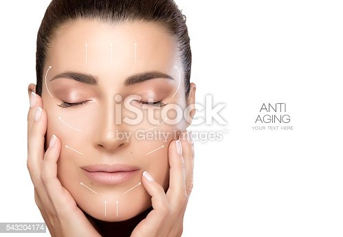 istock Beauty Face Spa Woman. Surgery and Anti Aging Concept 543204174
