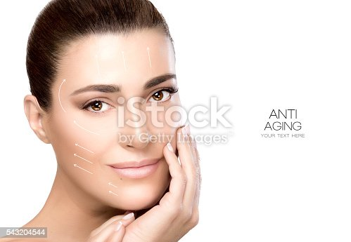 istock Beauty Face Spa Woman. Surgery and Anti Aging Concept 543204544