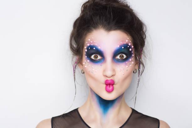 beauty gesicht woman - vogue muster stock-fotos und bilder