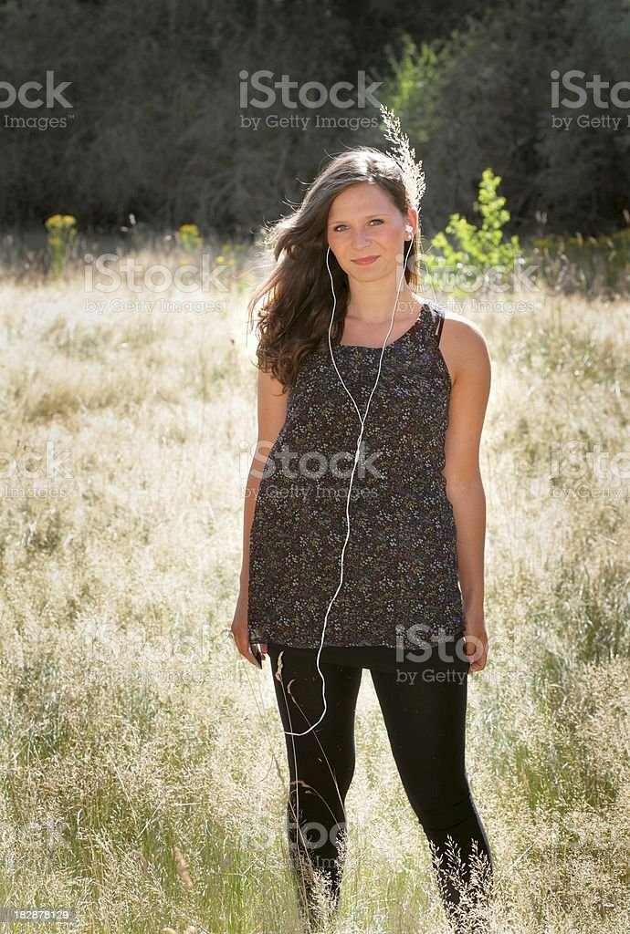 beauty female teenager portrait outdoor royalty-free stock photo