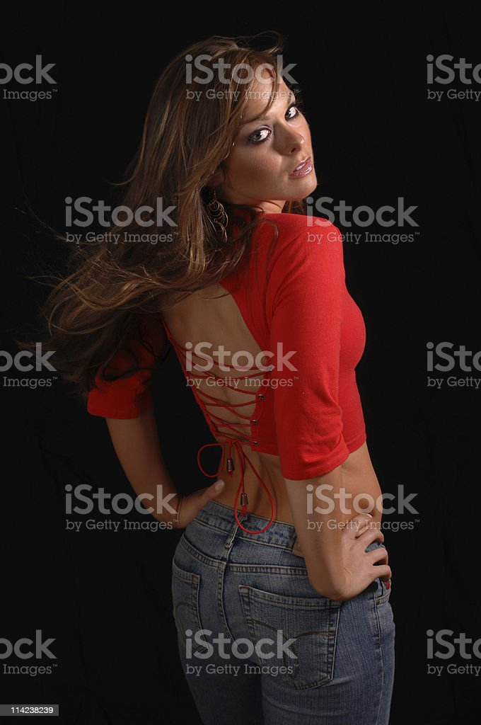 Beauty from behind royalty-free stock photo