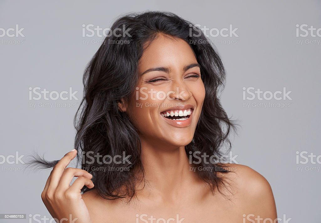 Beauty gets the attention, personality gets the heart stock photo