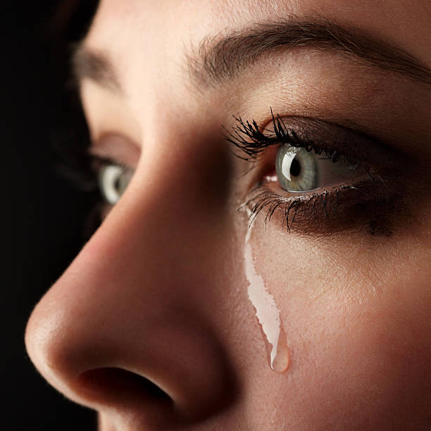 beauty girl cry - grief stock photos and pictures