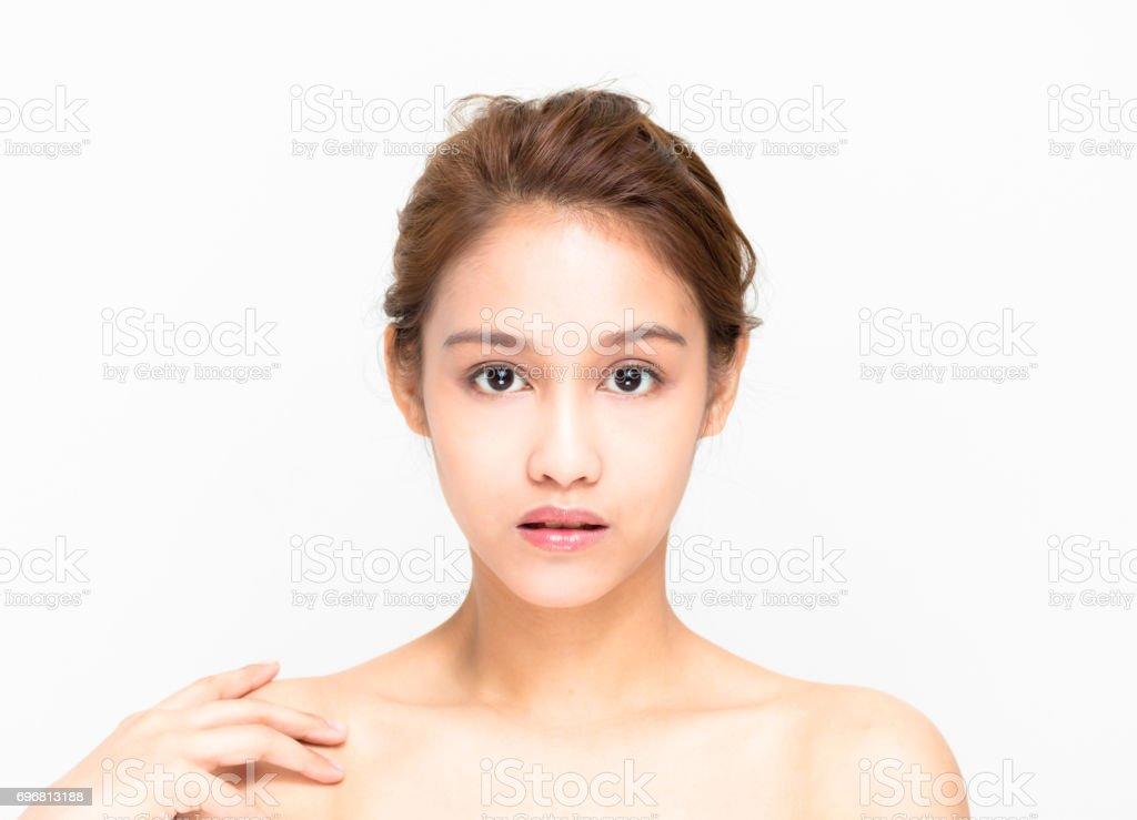 bellezas de la mitad latina y mitad imagen asiático, belleza y cosmética - foto de stock