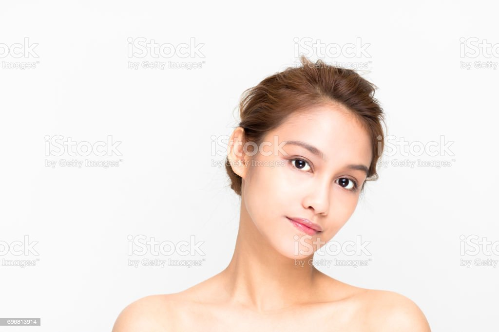 beauty girl of half latina and half asian, beauty and cosmetics image stock photo