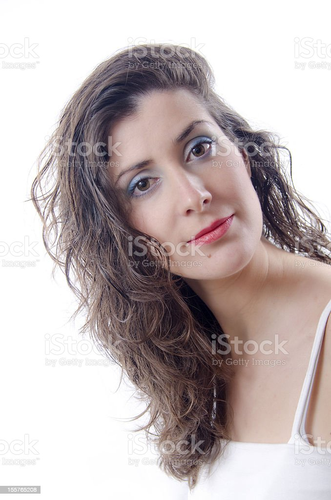 Beauty girl with wet hair stock photo