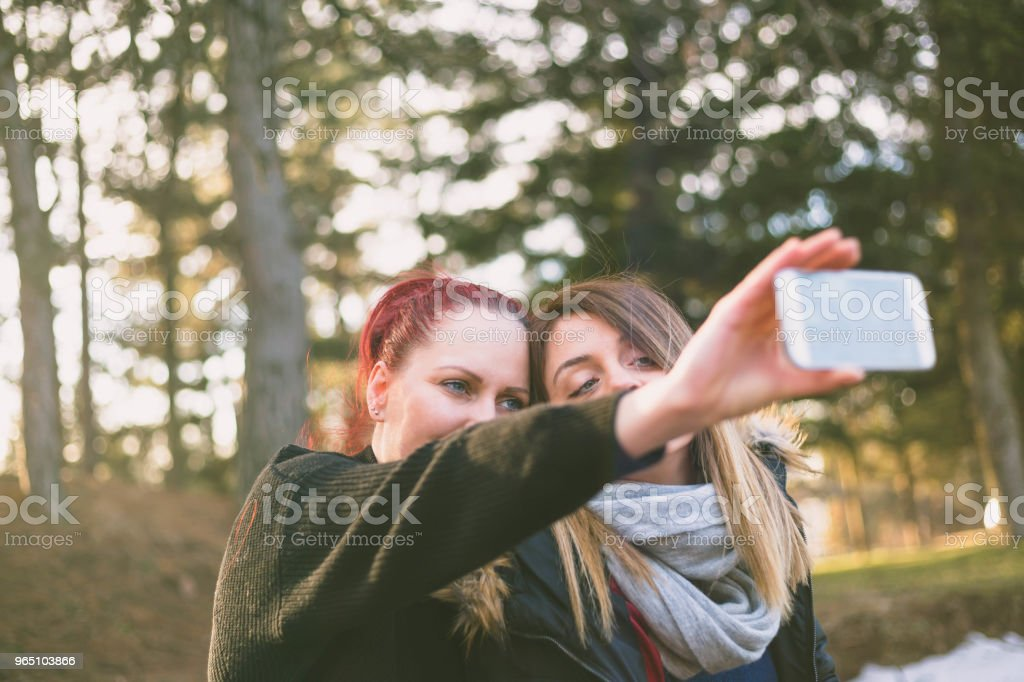Beauty girls having fun outdoors. royalty-free stock photo