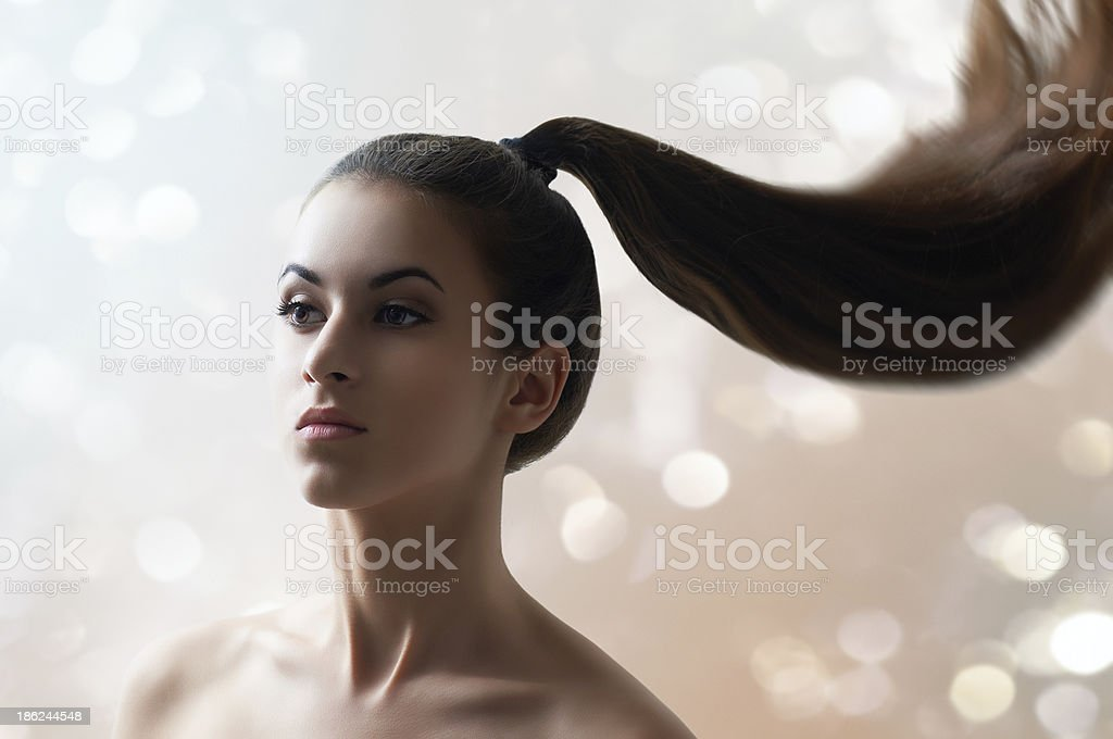 beauty hair stock photo