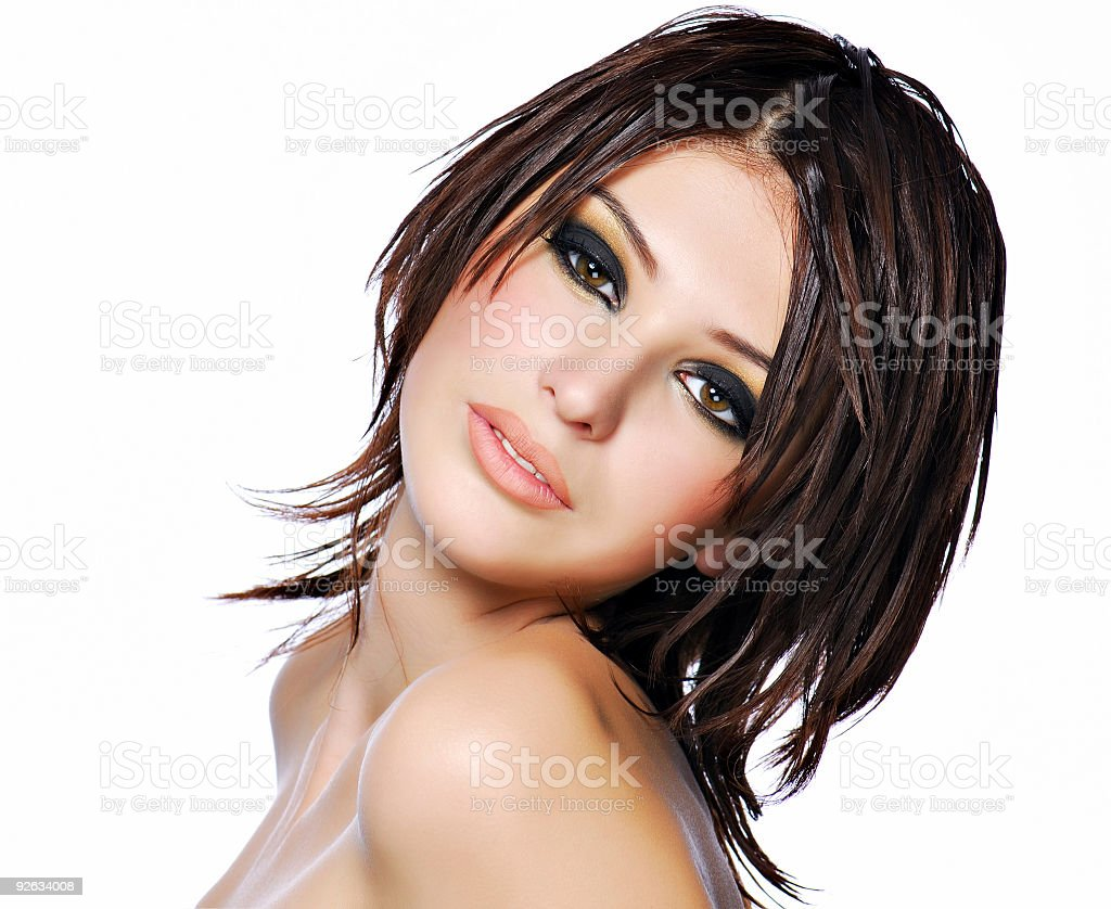 Beauty hairstyle royalty-free stock photo