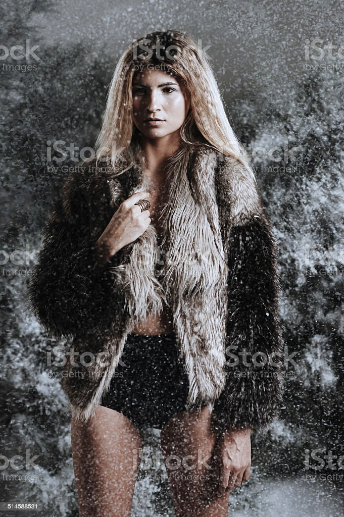 Beauty has its wild side stock photo