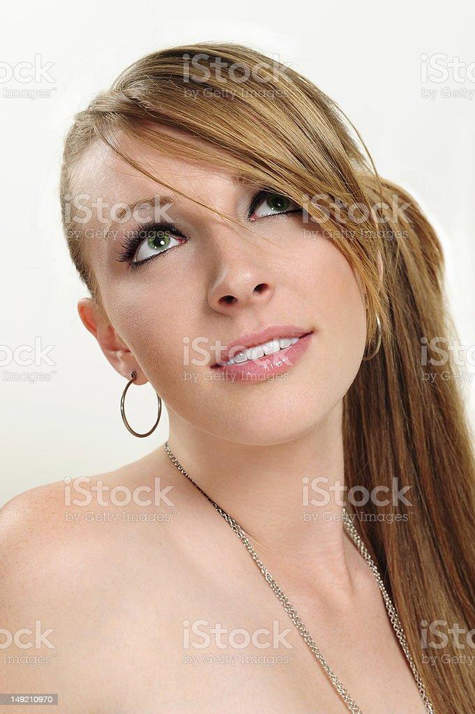 Beauty headshot in studio royalty-free stock photo