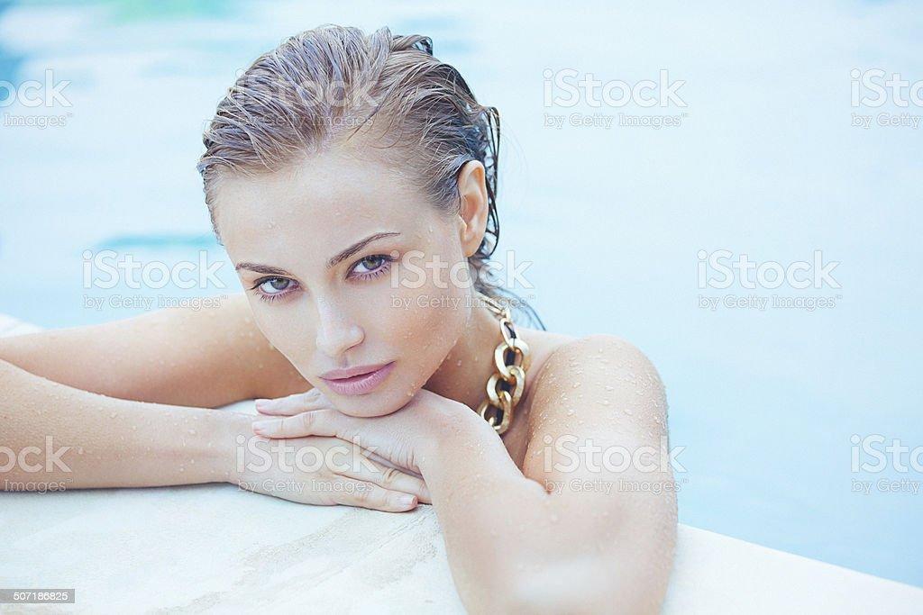 Beauty headshot of a beautiful young woman royalty-free stock photo