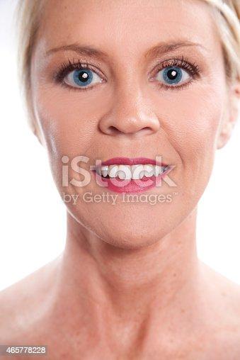 673361134 istock photo Beauty, Health. Beautiful blond woman. Head, shoulders. Spa. 465778228