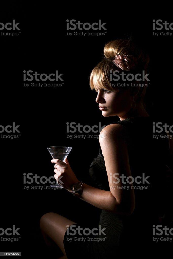 Beauty in a nightclub royalty-free stock photo