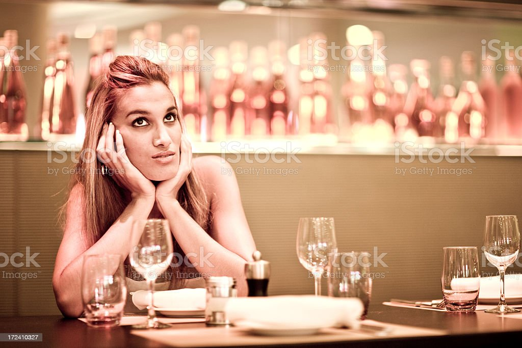 Beauty in a Restaurant royalty-free stock photo