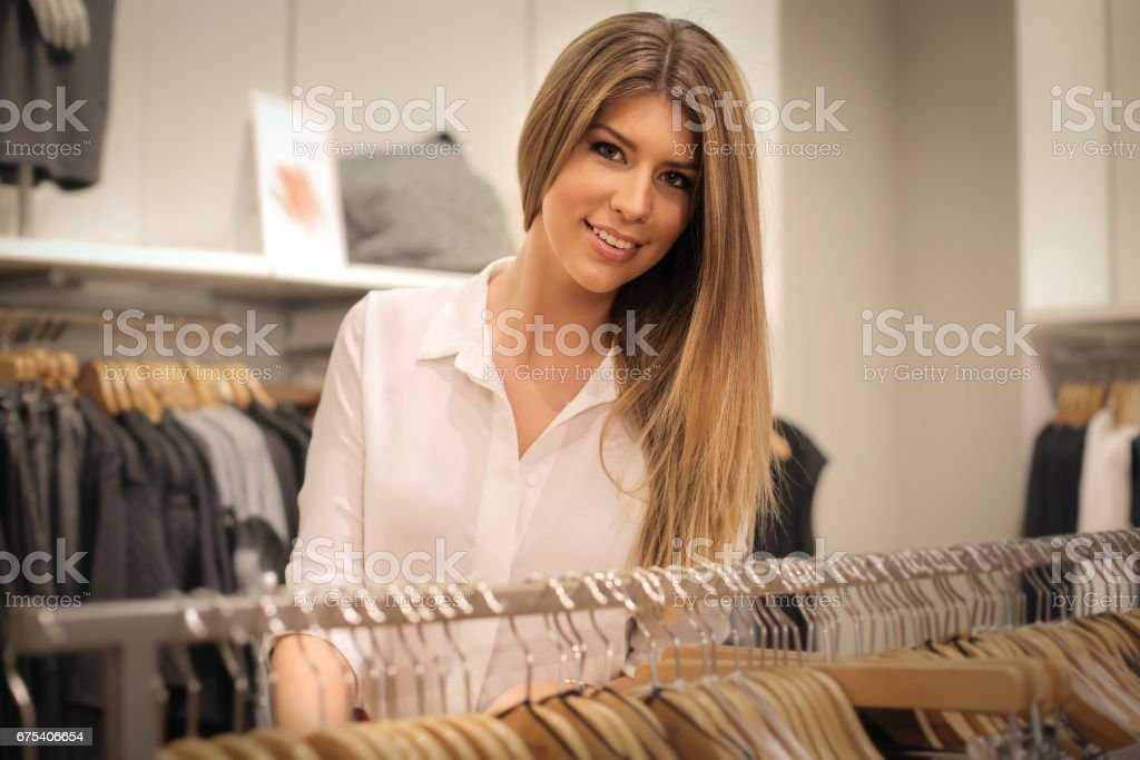 Beauty in a shop stock photo