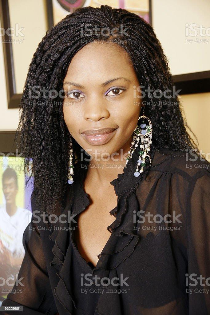 Beauty in black royalty-free stock photo