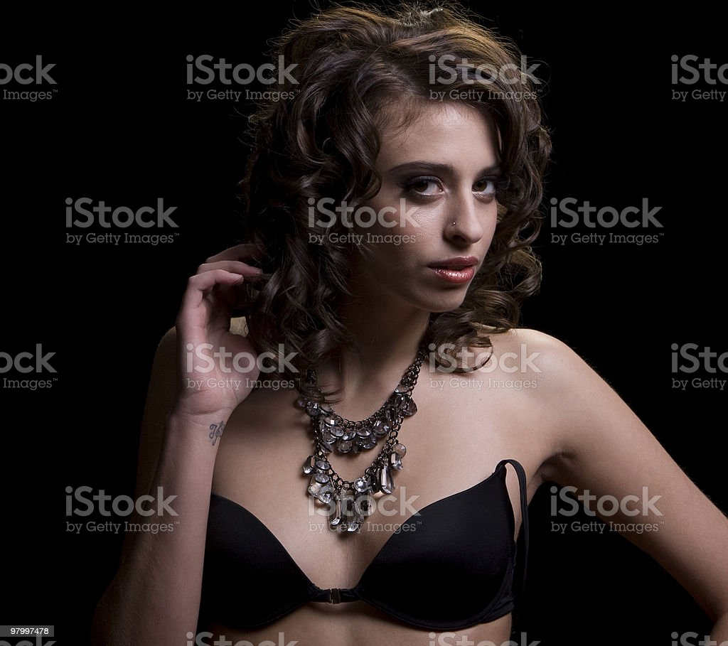 Beauty in Black royalty free stockfoto