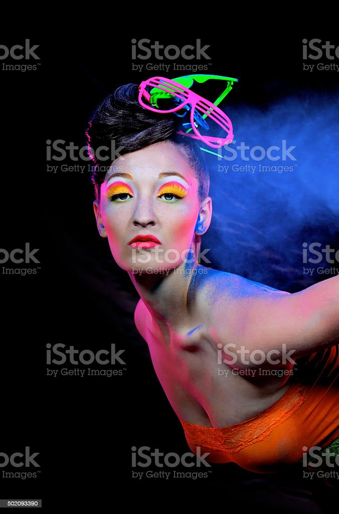 Beauty In Blue Powder one stock photo