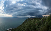 500px Photo ID: 215202311 - Very good looking super cell storm with great cloud structures, side view.An incredible shelf cloud looms over the gulf of Trieste, Italy