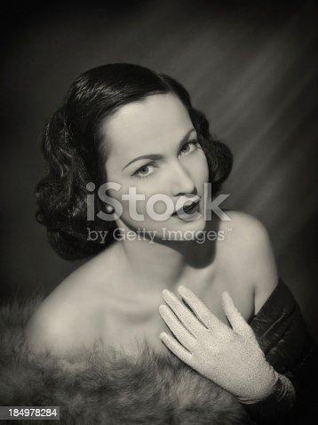 istock Beauty in film noir style 184978284