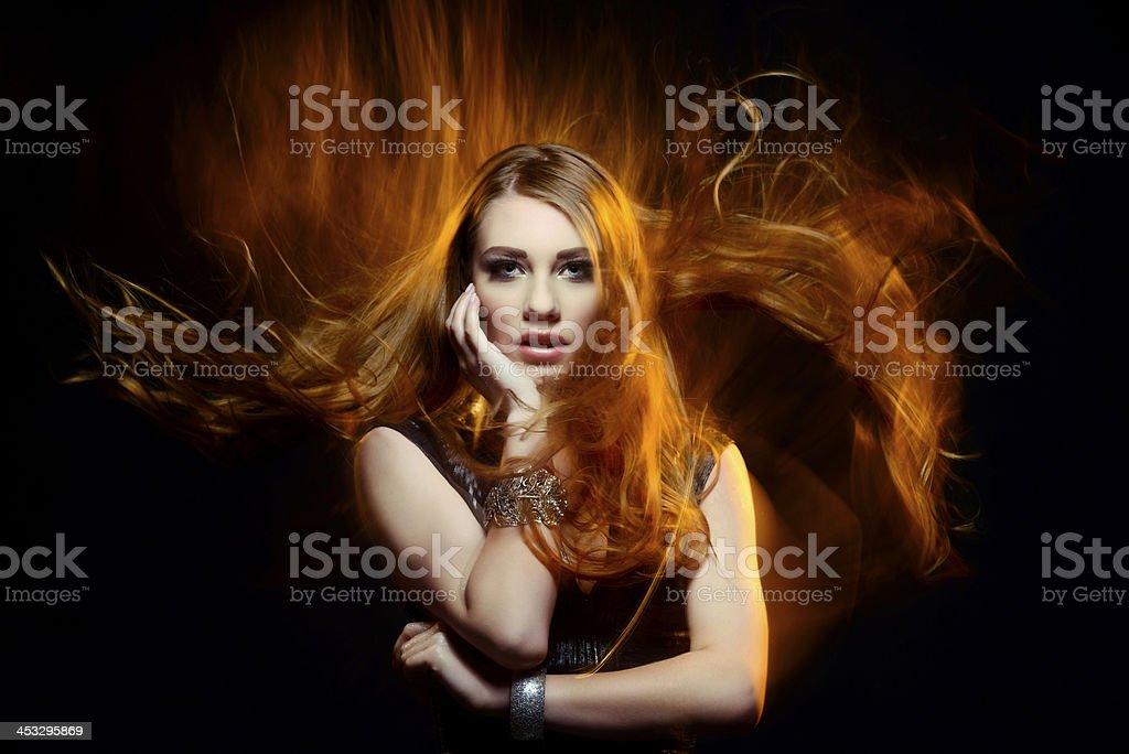 beauty in fire stock photo