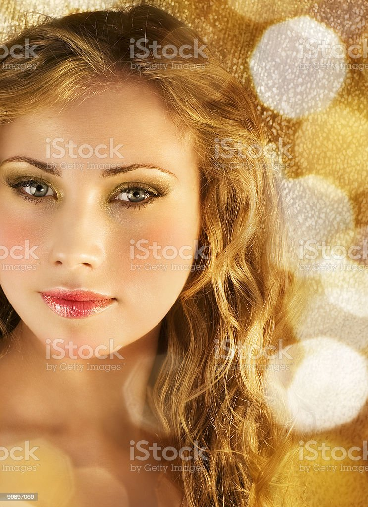 Beauty in golden lights royalty-free stock photo