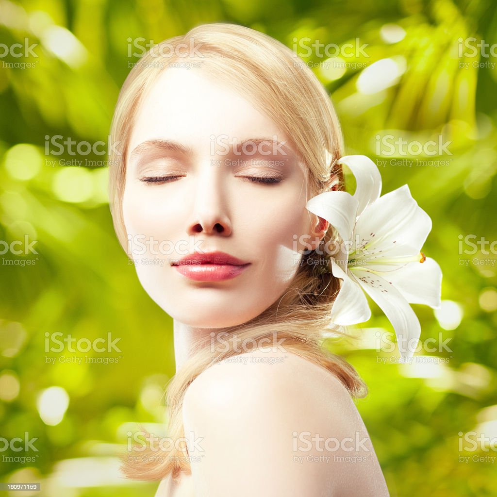 Beauty in Green royalty-free stock photo