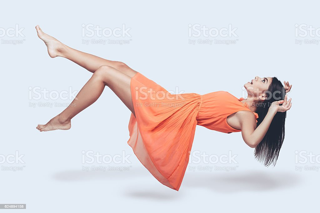 Beauty in mid-air. stock photo