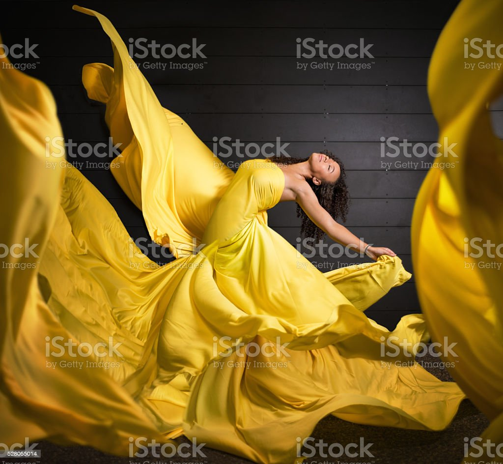 Beauty in motion stock photo
