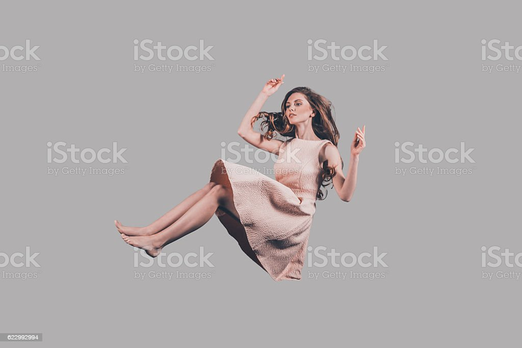 Beauty in motion. stock photo