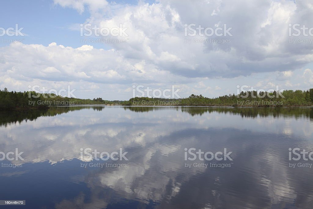 Beauty in nature lake with mirroring effect royalty-free stock photo