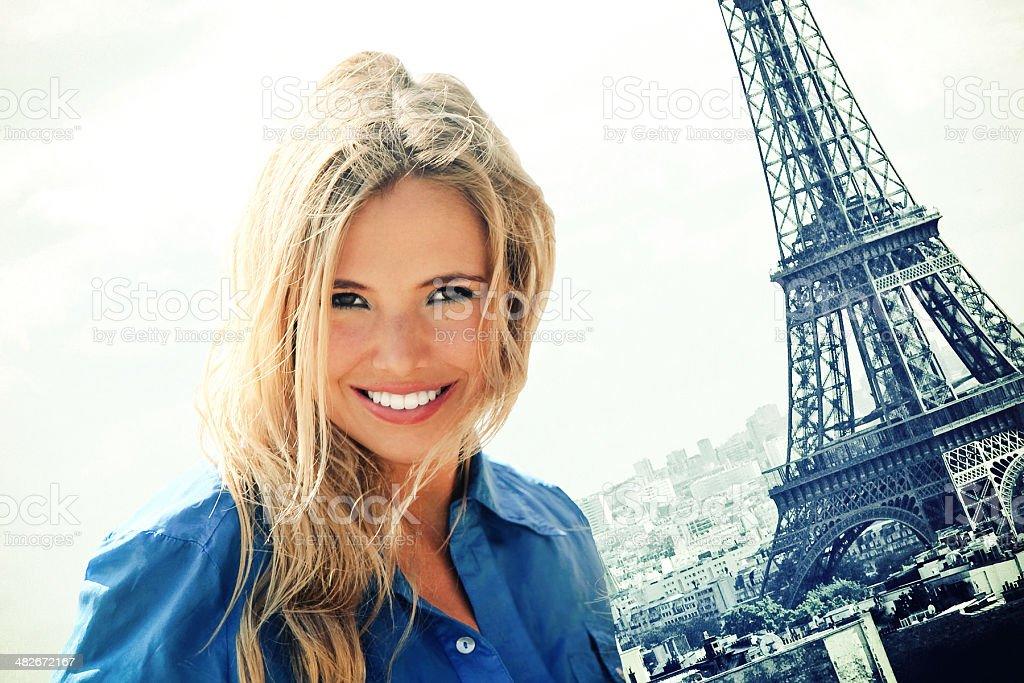 Beauty in Paris royalty-free stock photo