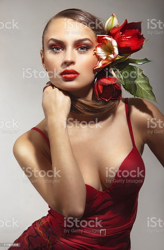 Beauty in red royalty-free stock photo