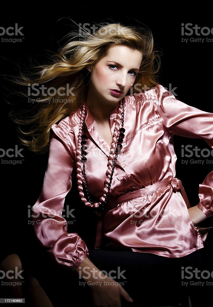 Beauty In Silk royalty-free stock photo