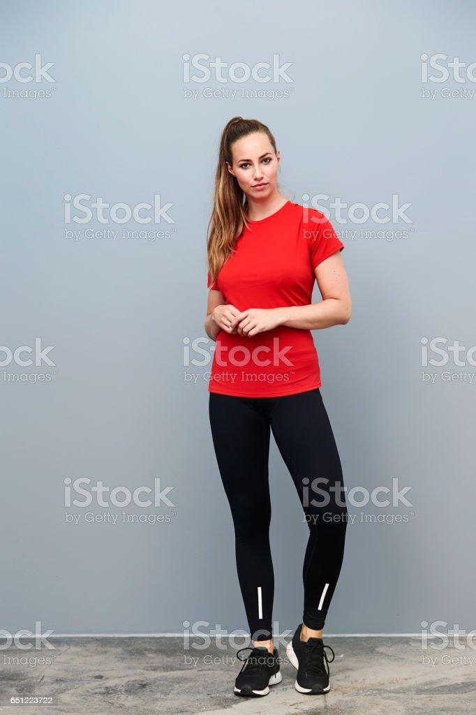 Beauty in sportswear foto de stock libre de derechos