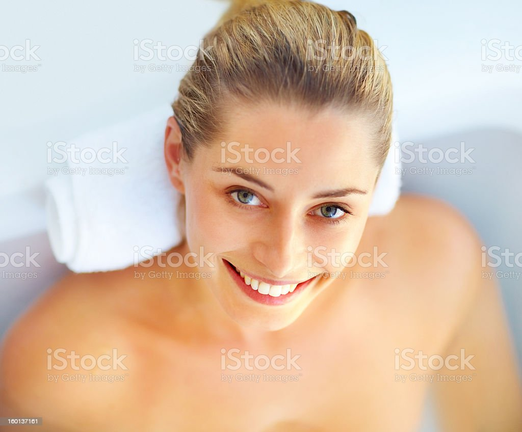 Beauty in the bathtub royalty-free stock photo