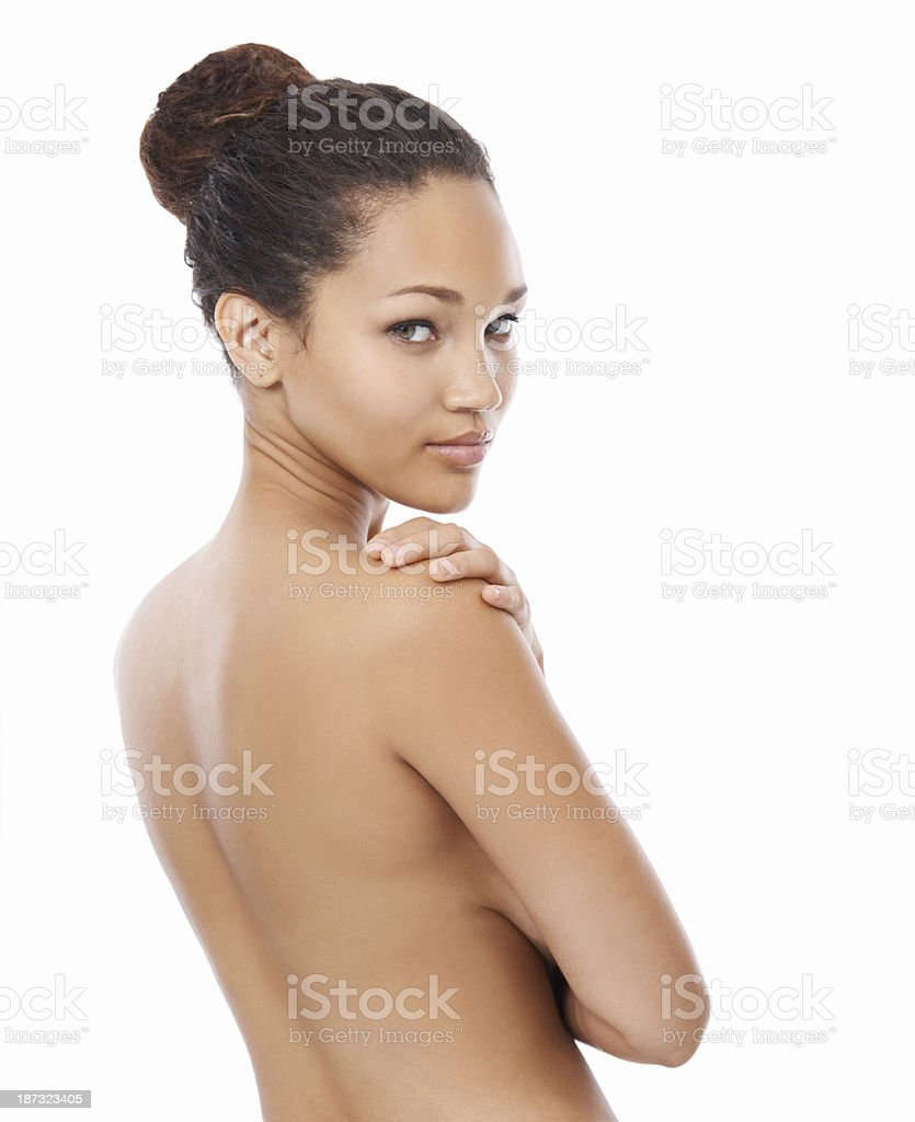 Beauty in the buff stock photo