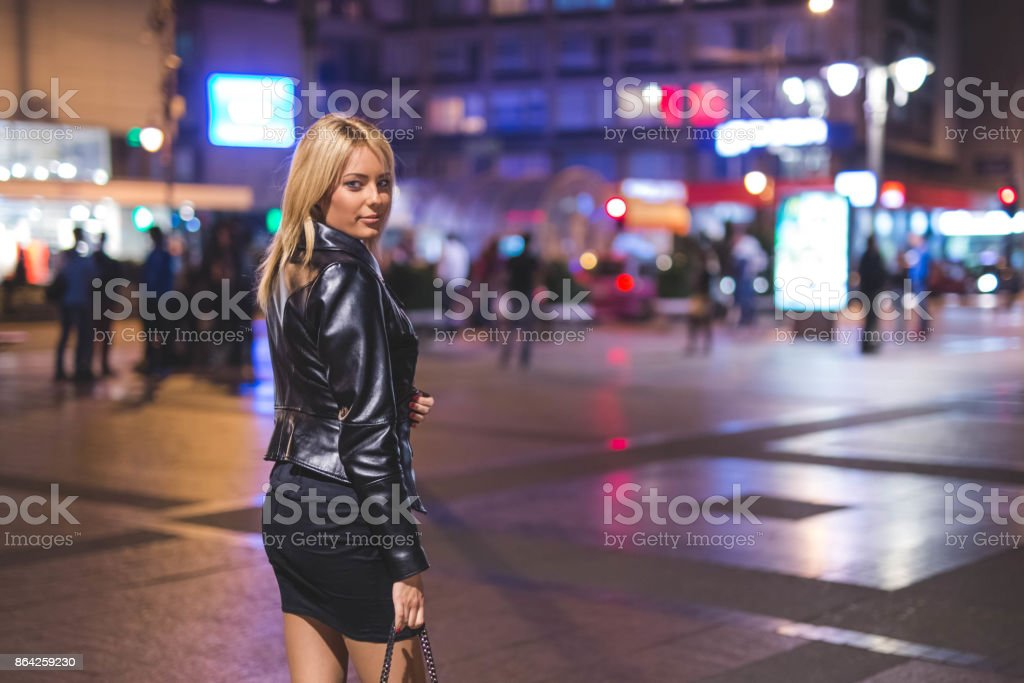 Beauty in the city at night royalty-free stock photo