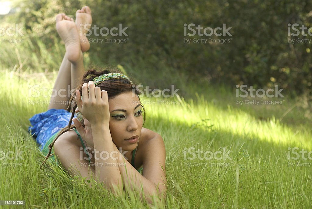 Beauty in the grass stock photo