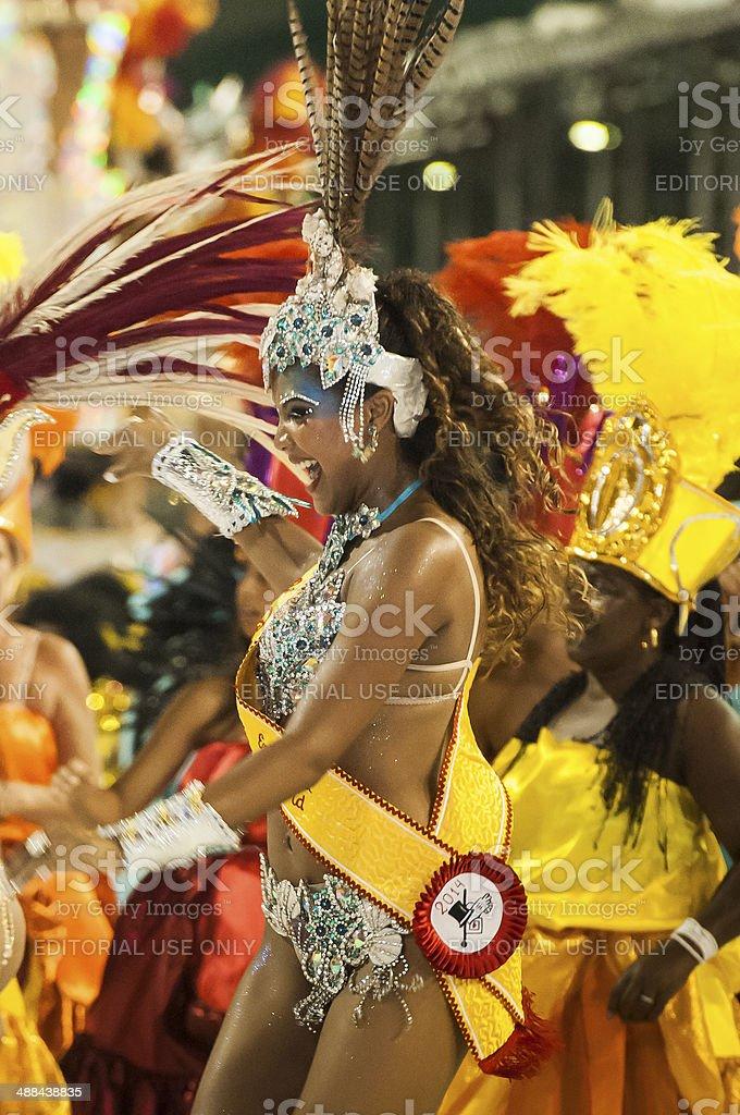 Beauty in the Sambadrome royalty-free stock photo